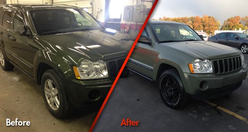 Jeep Cherokee Camo - Before & After